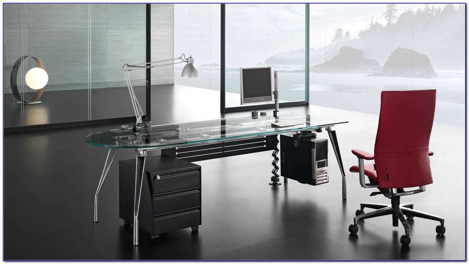 Modern Executive Glass Desk For Office Furniture