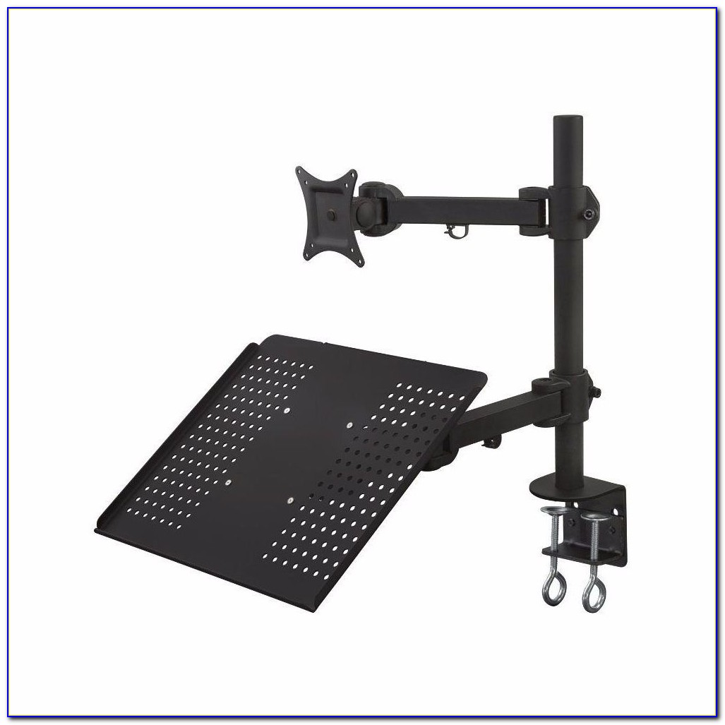 Monmount Dual Lcd Monitor Stand Desk Clamp