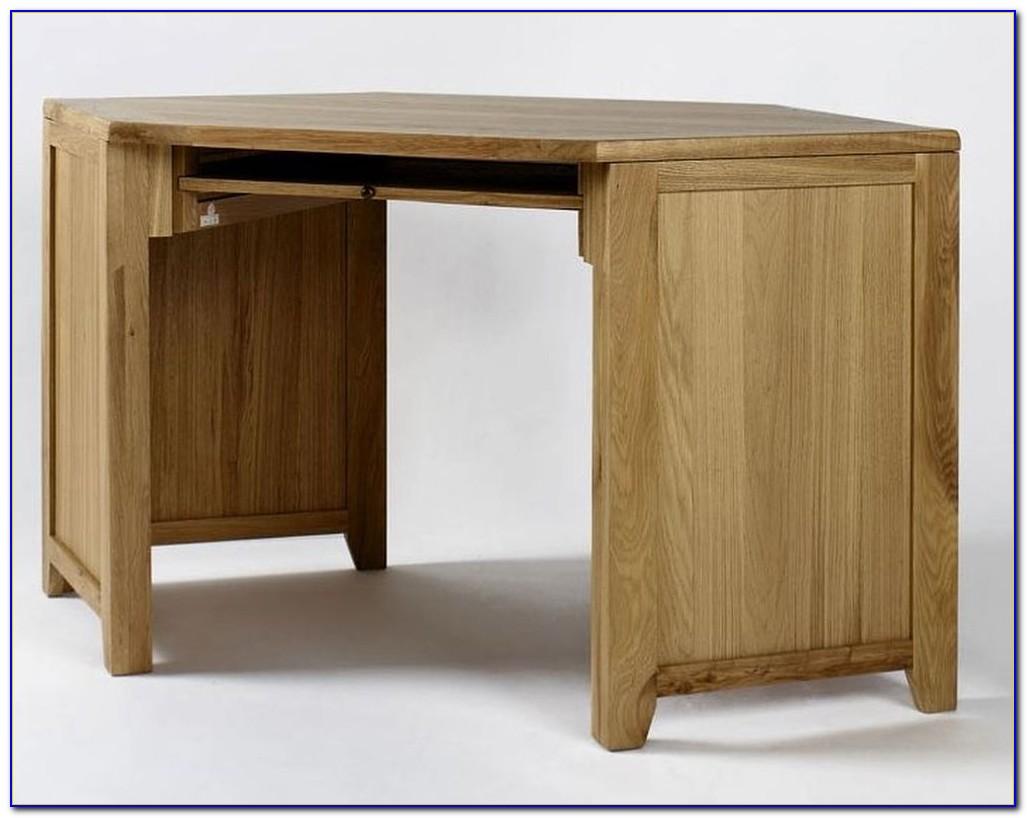 New London Solid Oak Corner Home Office Desk
