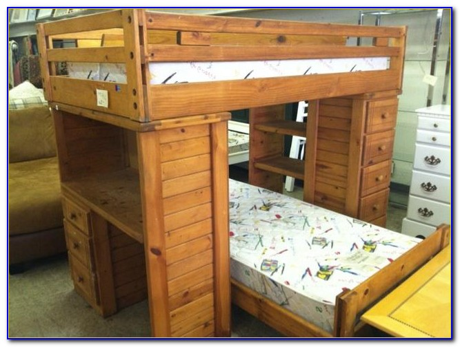 Oak Bunk Beds With Desk