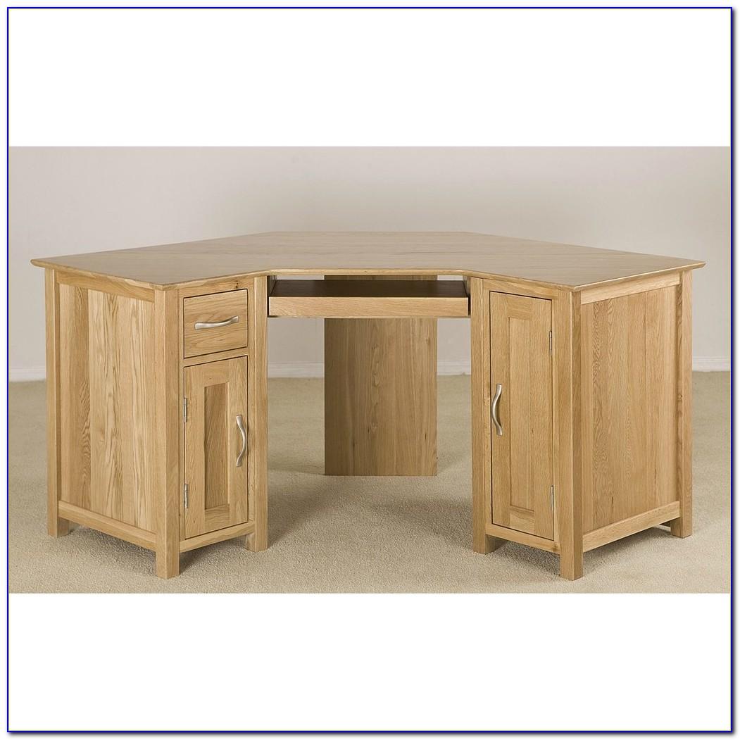 Oak Corner Computer Desk Ebay