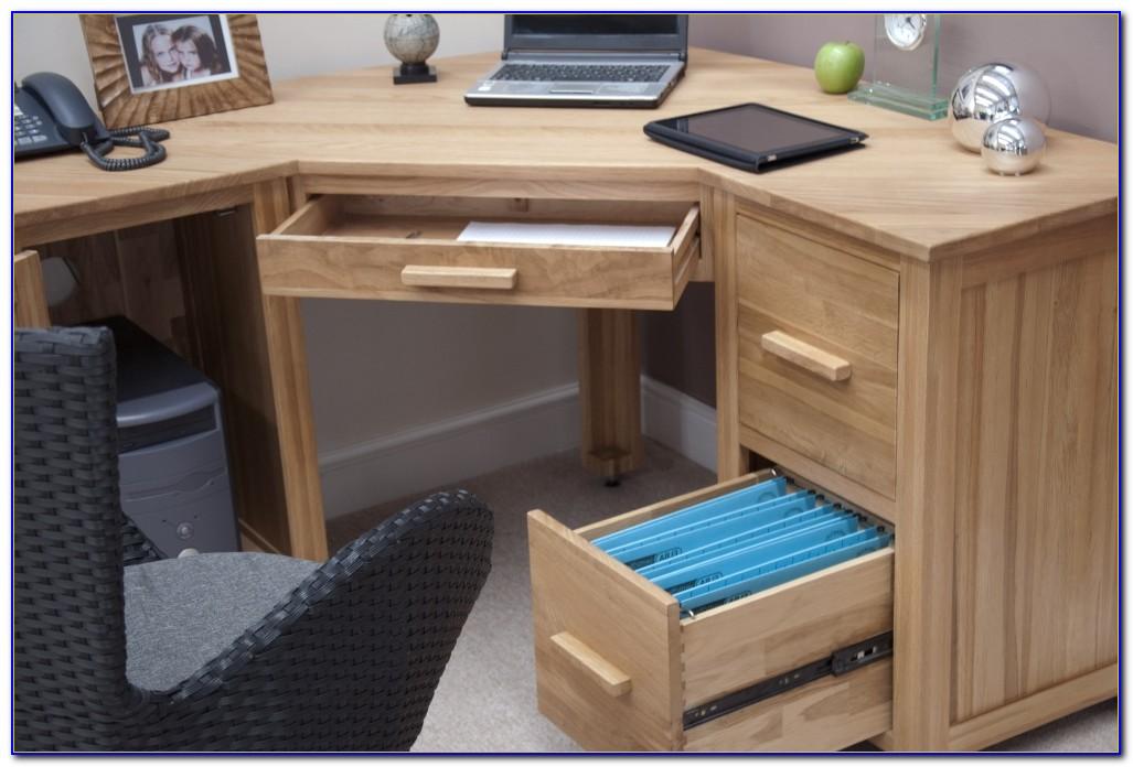 Oak Corner Computer Desks