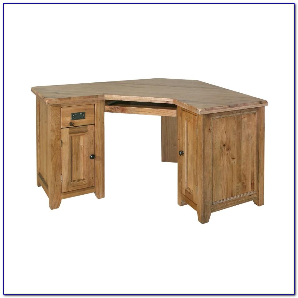 Oak Corner Office Desk