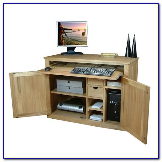 Oak Hideaway Computer Desk Uk