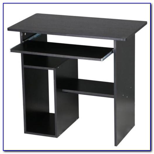 Office Desk With Keyboard Shelf