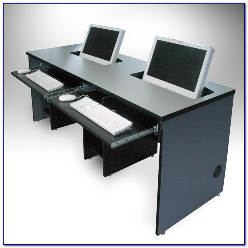Recessed Monitor Computer Desk