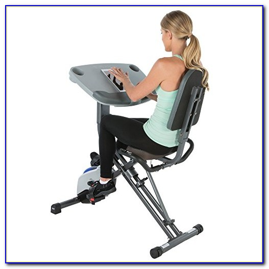 Recumbent Exercise Bike Desk