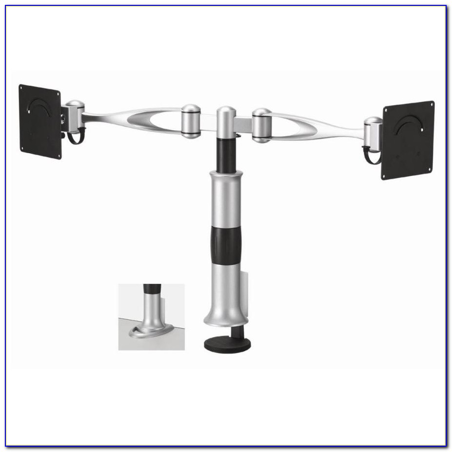 Ross Double Monitor Dual Arm Desk Mount 13 23