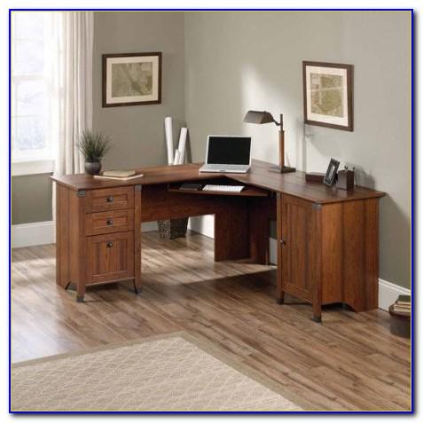 Sauder Computer Desk Cinnamon Cherry Dimensions