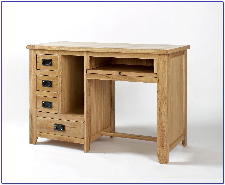 Single Pedestal Pine Computer Desk