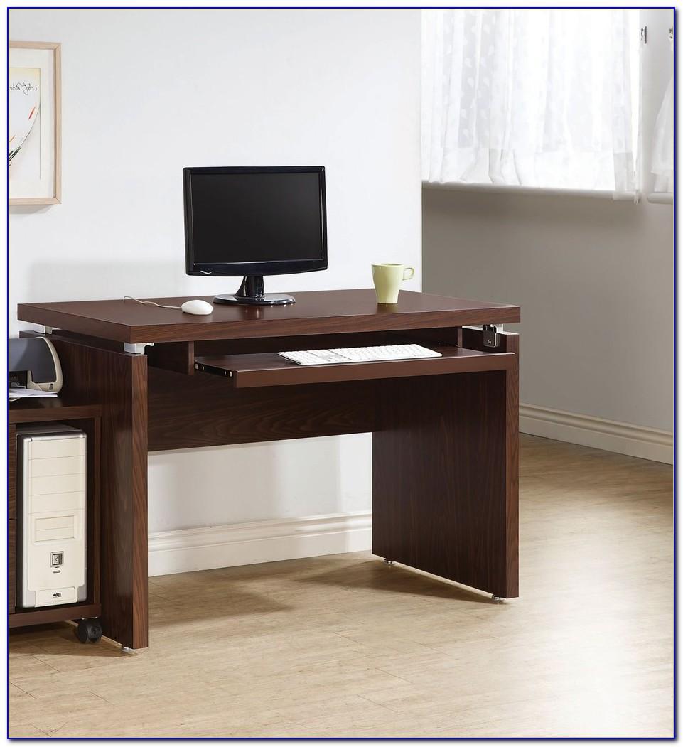 Small Desk With Keyboard Shelf