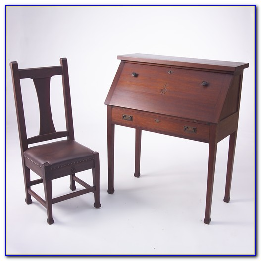 Small Drop Front Writing Desk