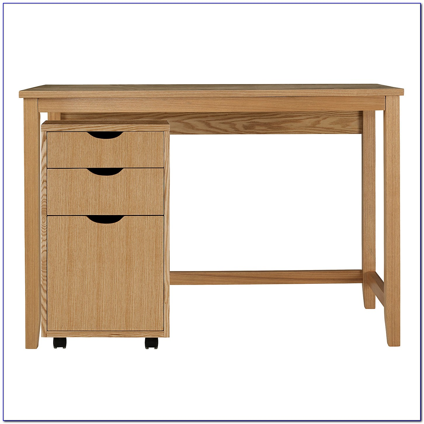Small Oak Writing Desk With Drawers