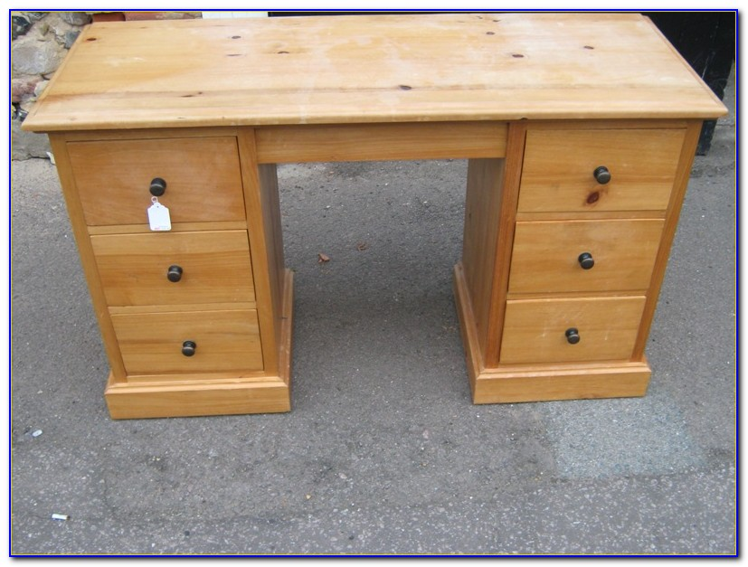 Small Pine Desk With Drawers