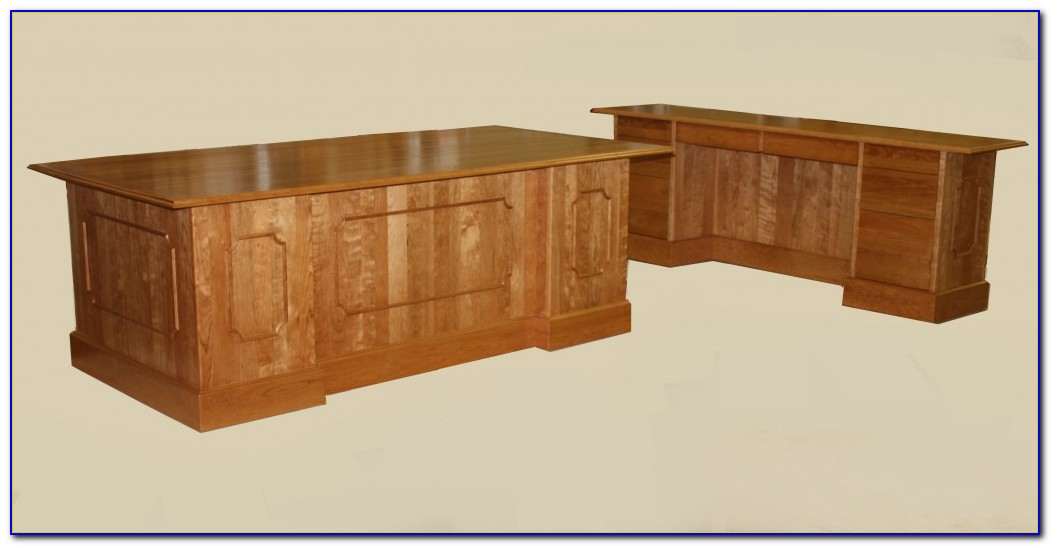 Solid Cherry Executive Desk