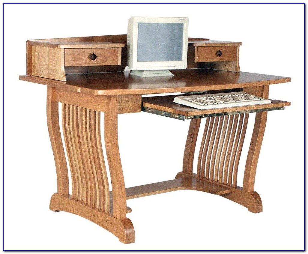 Solid Wood Computer Desks With Hutch