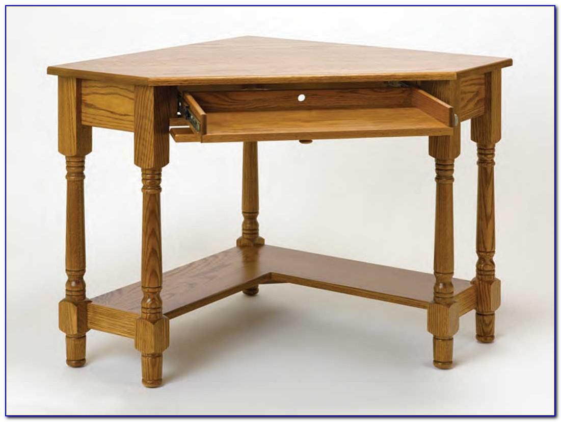 Solid Wood White Corner Desk