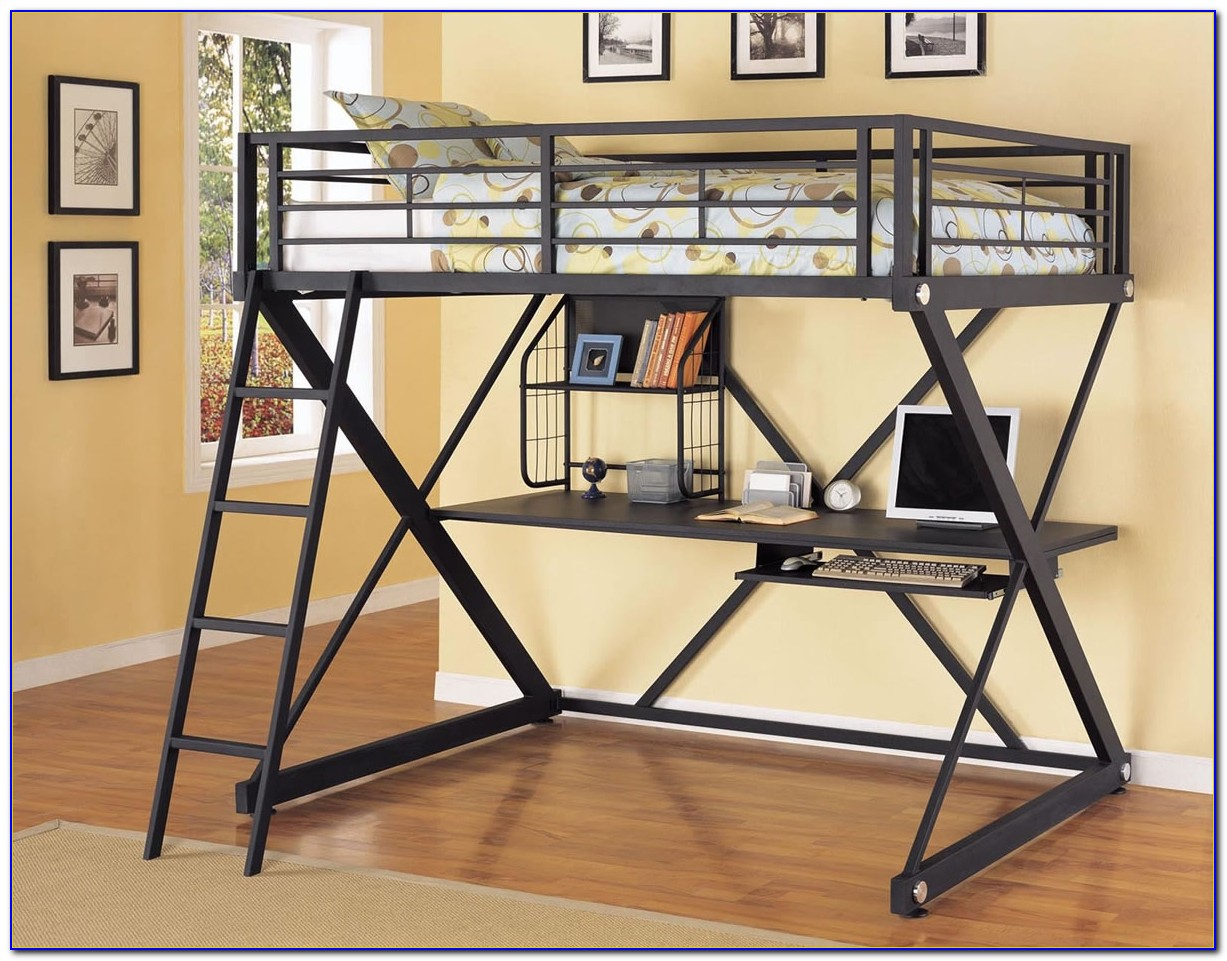 Steel Bunk Bed With Desk