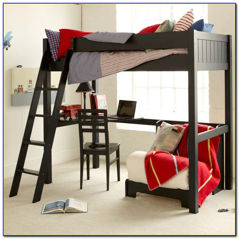 Stompa High Sleeper Bed With Desk And Futon