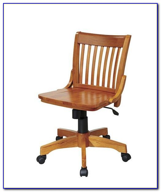 Swivel Wood Office Chair