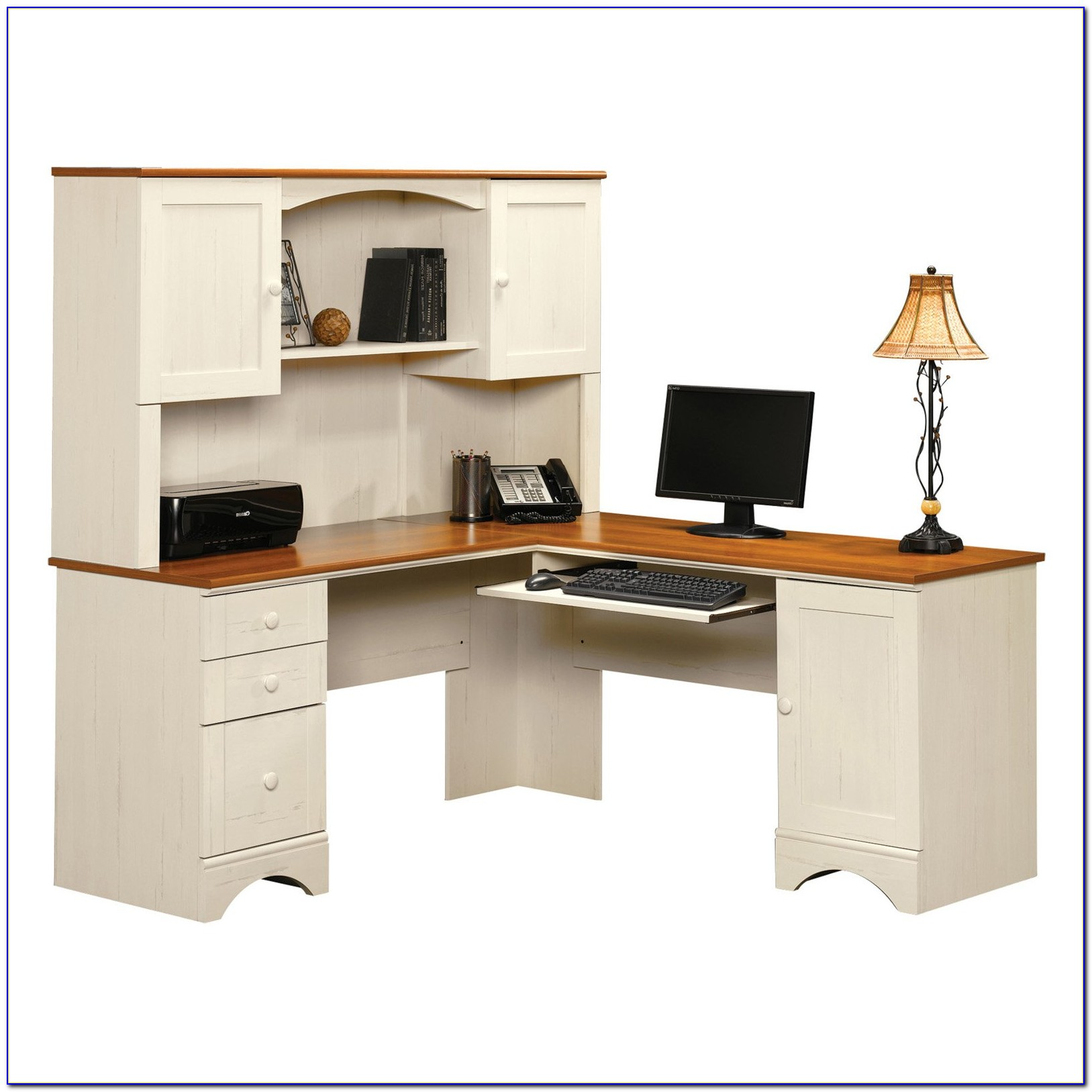 White Corner Computer Desk Canada