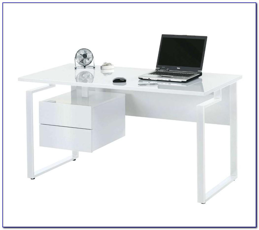 White High Gloss Computer Desk Ikea