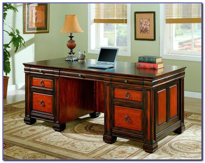 White Home Office Executive Desk