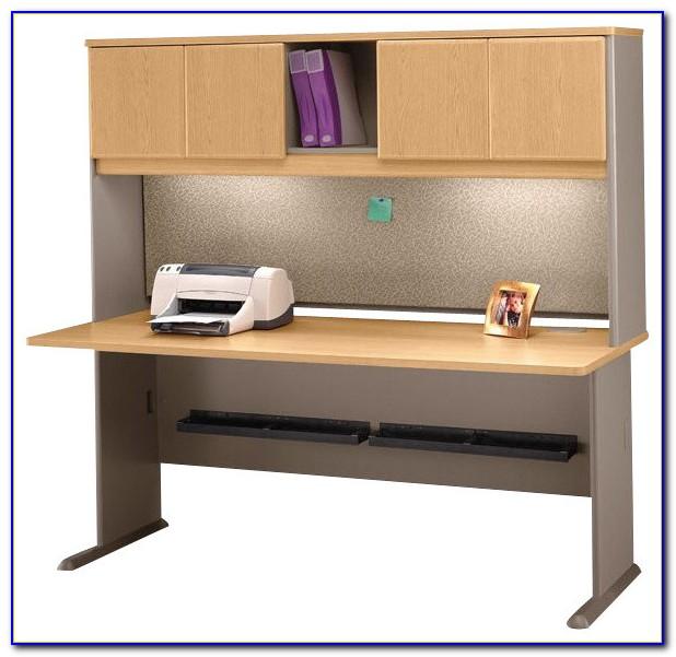 White Wooden Desk And Hutch