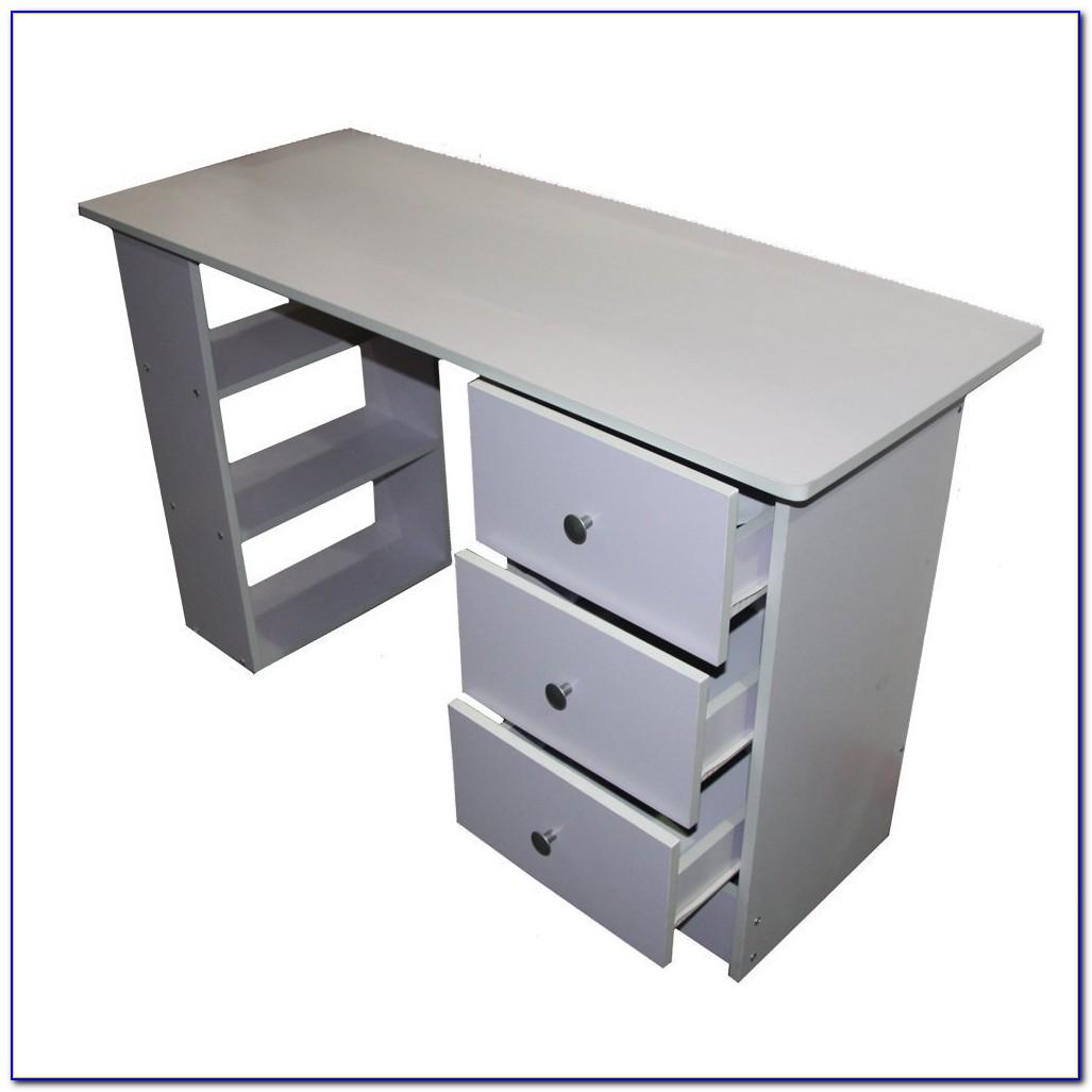 Workstation Desk With Shelves