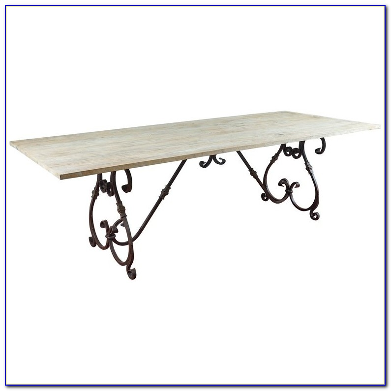 Wrought Iron Table Base With Wood Top