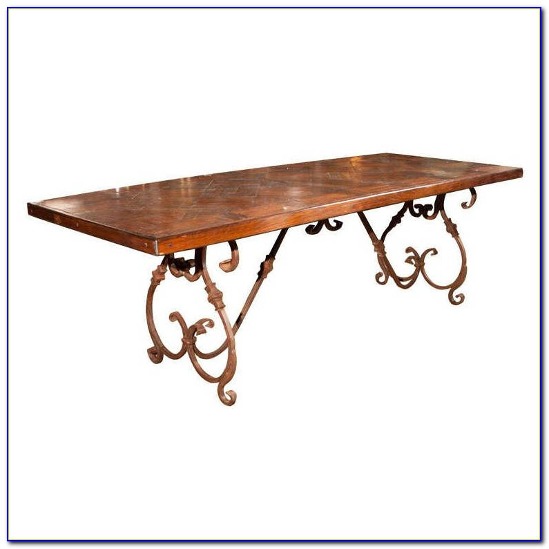 Wrought Iron Table Bases For Glass Tops