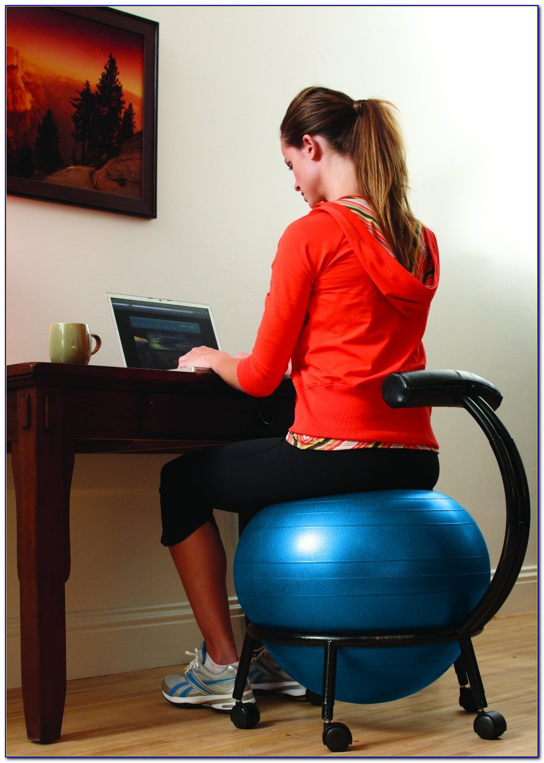 Yoga Ball At Work Desk