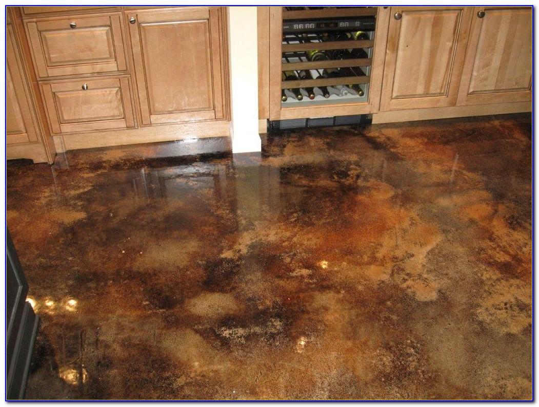 Acid Stain Concrete Floors Yourself