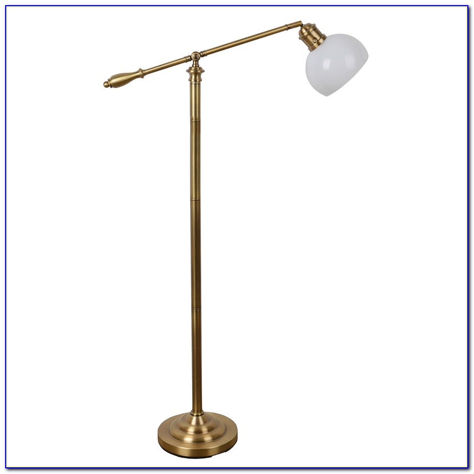 Allen Roth Brushed Nickel Floor Lamp
