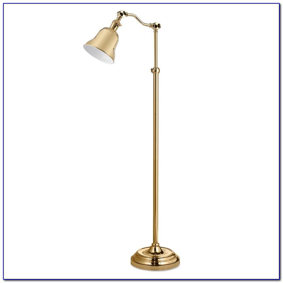 Antique Brass Halogen Pharmacy Floor Lamp