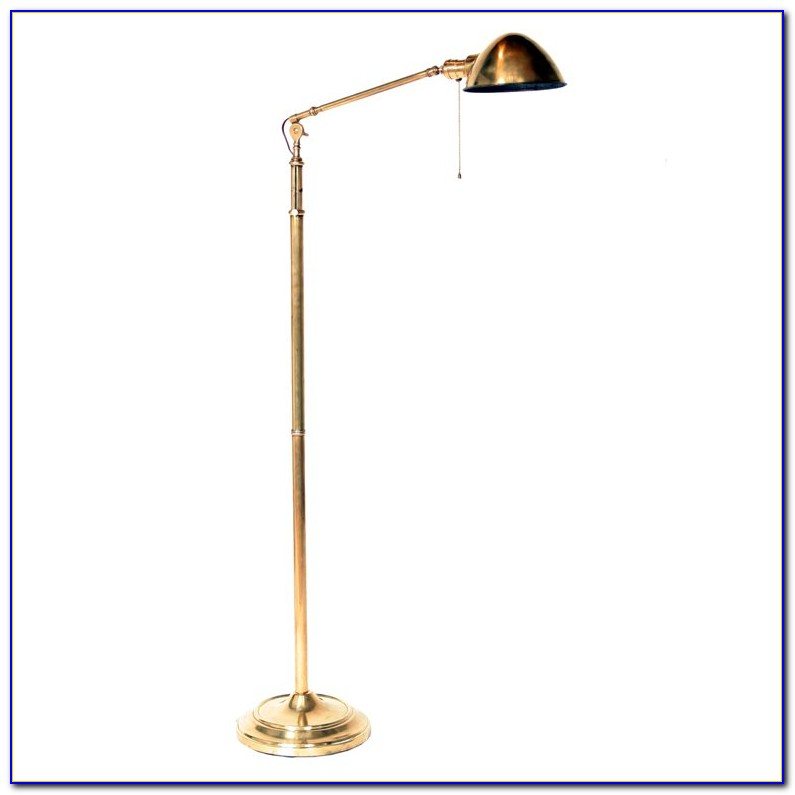 Antique Brass Pharmacy Floor Lamp