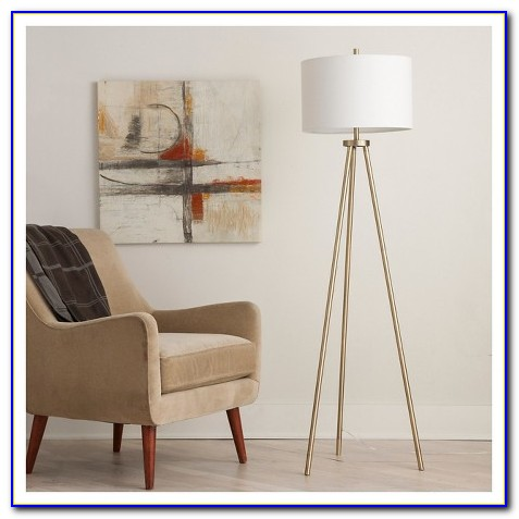 Black And Gold Tripod Floor Lamp