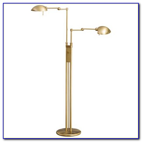 Brass Adjustable Pharmacy Floor Lamp
