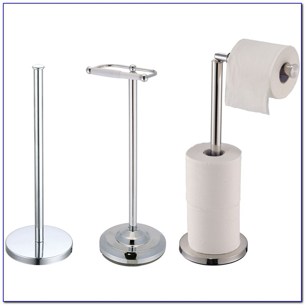 Brass Floor Toilet Paper Holder
