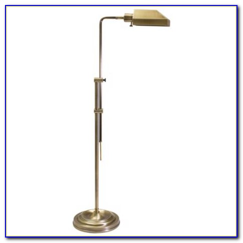 Brass Pharmacy Style Floor Lamp