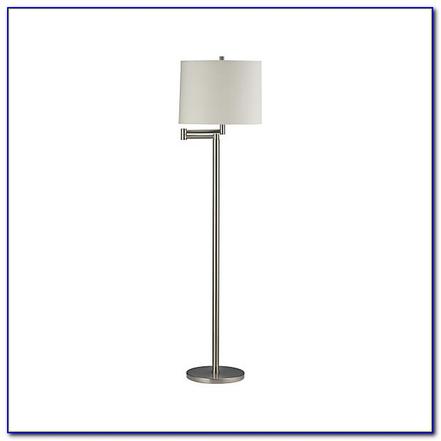 Brushed Nickel Floor Lamp Glass Shade
