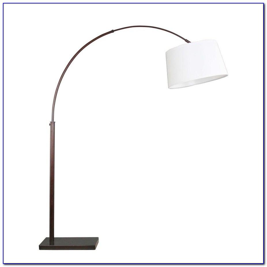 Burlap Bronze Arc Floor Lamp