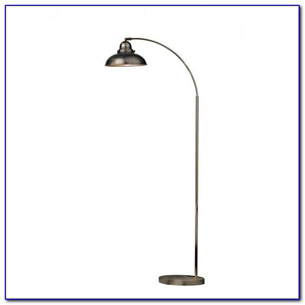 Chrome Boom Arc Floor Lamp With Linen Shade