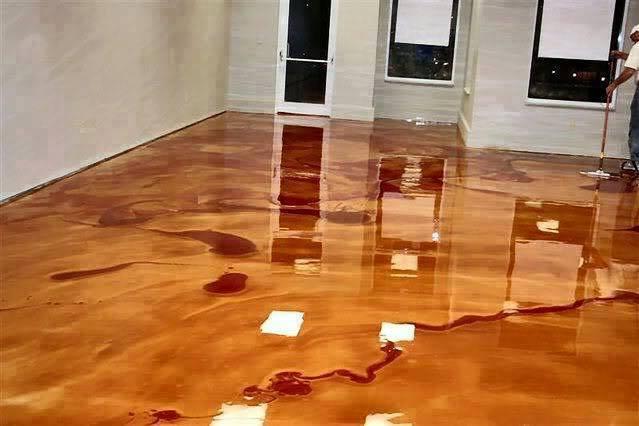 Diy Epoxy Floor Metallic