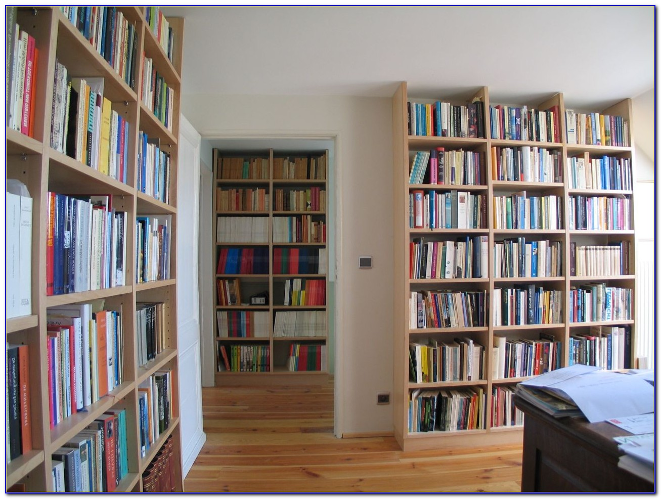 Floor To Ceiling Bookshelves With Ladder
