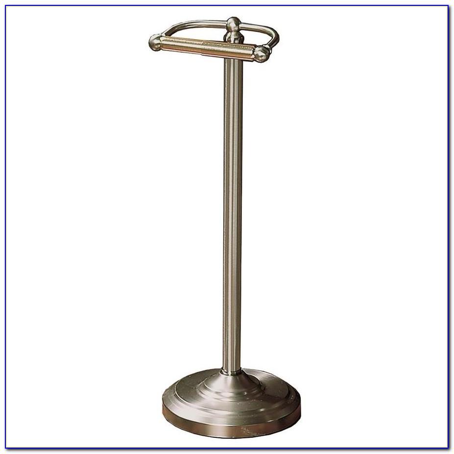 Floor Toilet Paper Holder Bronze