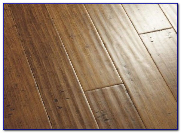Hand Scraped Bamboo Cafe Flooring