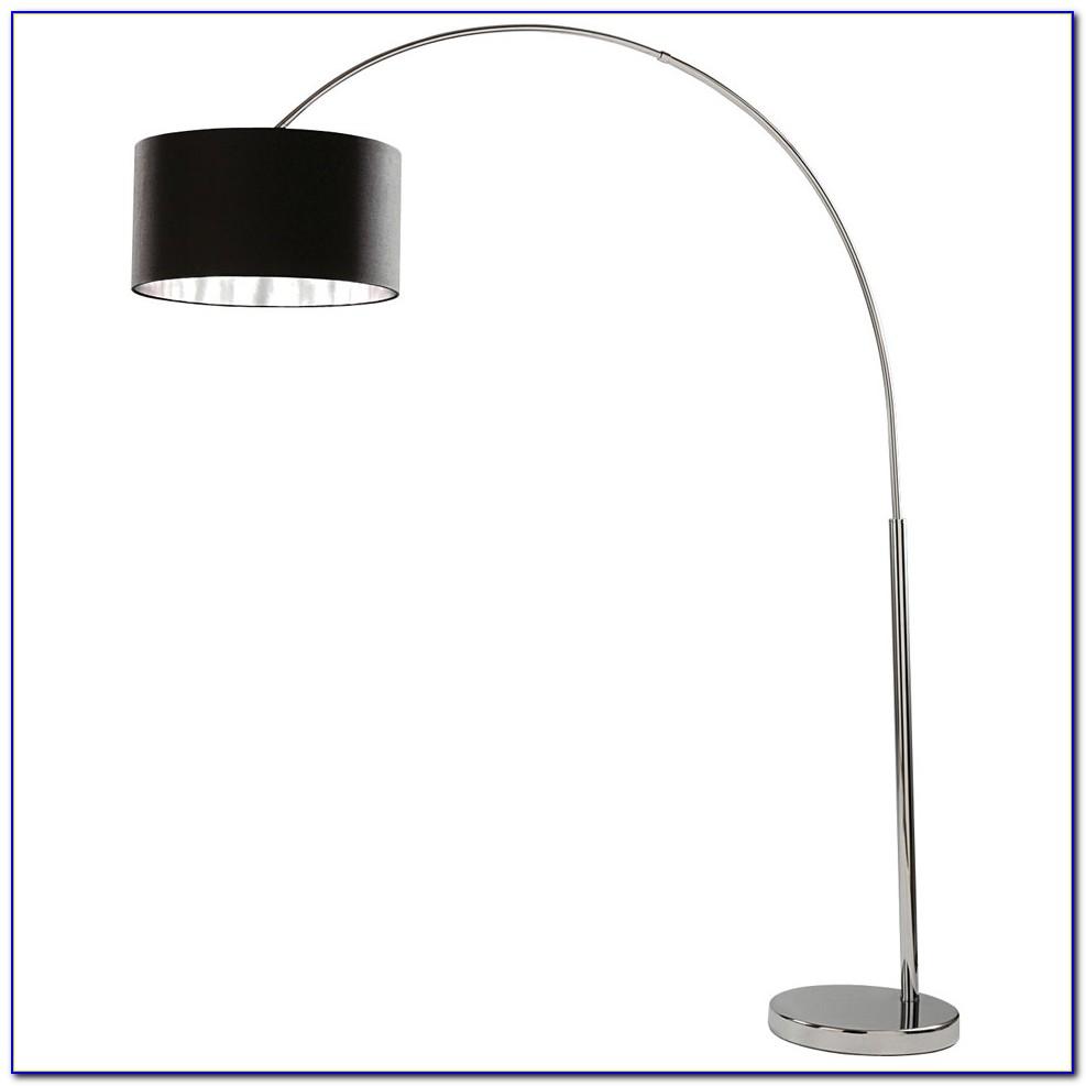 Large Chrome Arc Floor Lamp