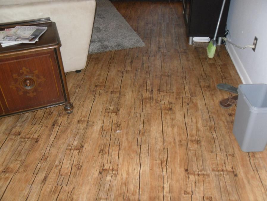 Laying Vinyl Peel And Stick Plank Flooring