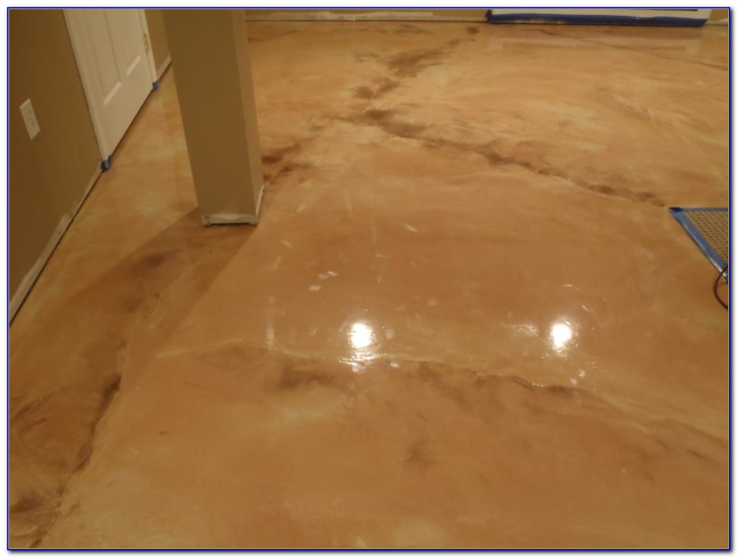 Metallic Epoxy Basement Floor Paint